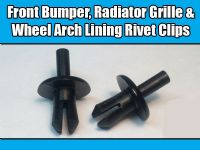 100 Trim Clips For Vauxhall Front Bumper Radiator Grille Wheel Arch Lining Rivet